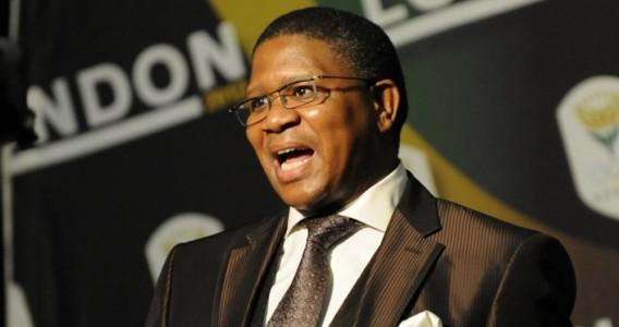 Fikile Mbalula, minister of sports and recreation